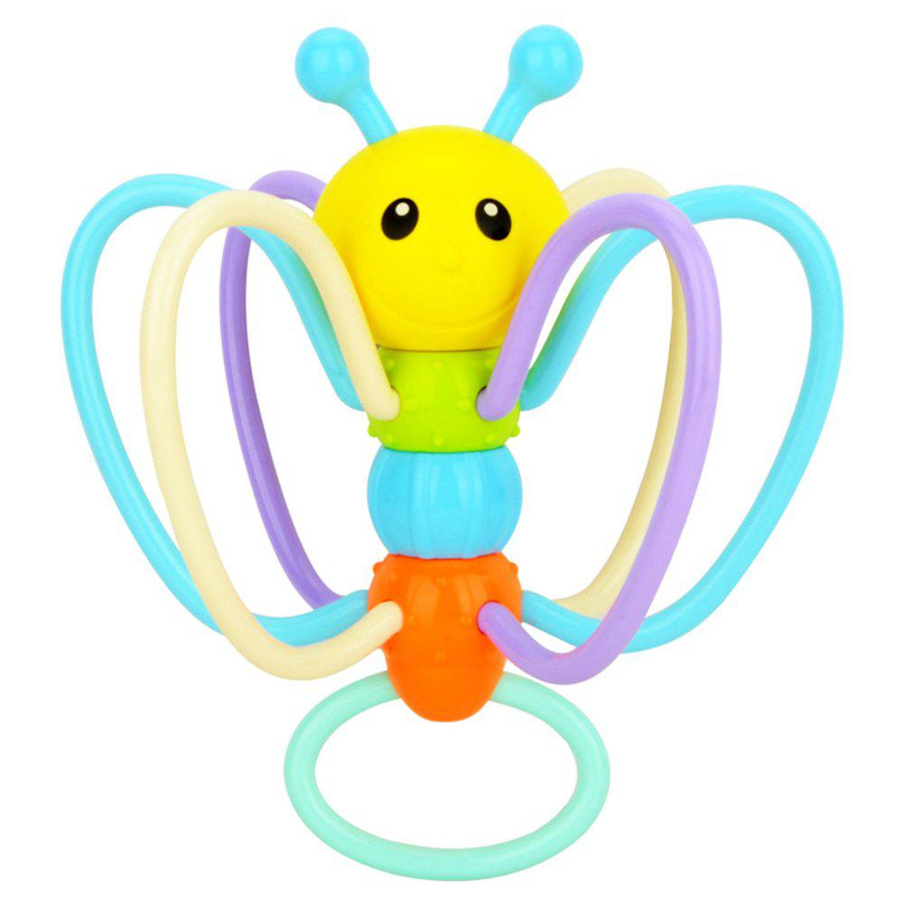 Soft Rubber Bees Hand Grasp Kis Environmental Safety Tooth Gum Balls Toys - COLORMIX