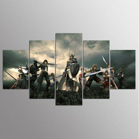 YSDAFEN 5 Pieces Home Wall Decor Canvas Picture Art - COLORMIX 30X40CMX2+30X60CMX2+30X80CMX1(12X16INCHX2+12X24INC