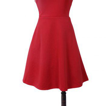 2017 Womens Elegant  Summer Off  Shoulder Solid  Cute Casual Party A- Line Mini Dress - RED S