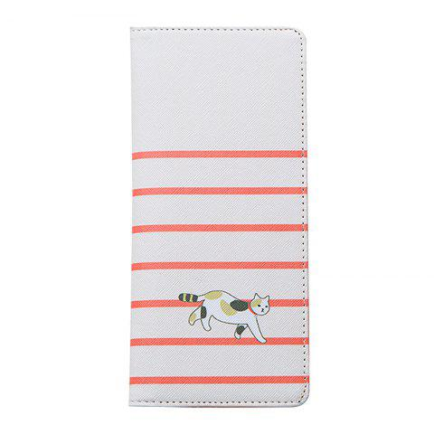 Cartoon Lady Wallet Documents de voyage Paquet de cartes de passeport - Blanc