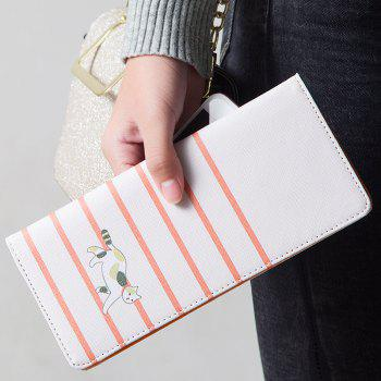 Cartoon Lady Wallet Travel Documents Passport Package Card Package - WHITE