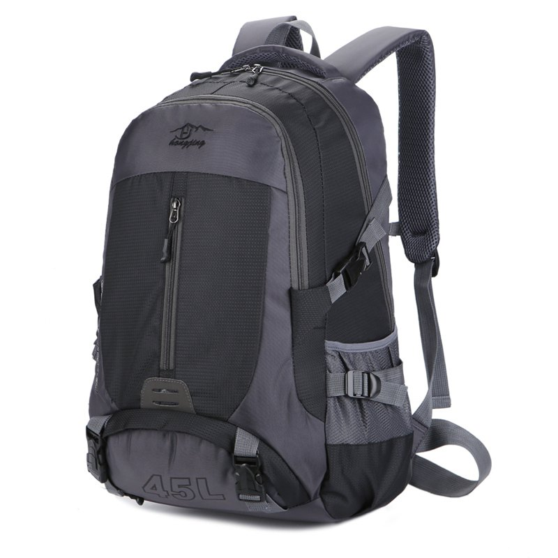 Hongjing 45L Outdoor Casual Sporting Hiking Camping Climbing Backpack - BLACK