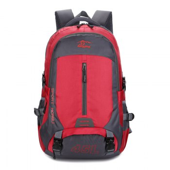 Hongjing 45L Outdoor Casual Sporting Hiking Camping Climbing Backpack - RED