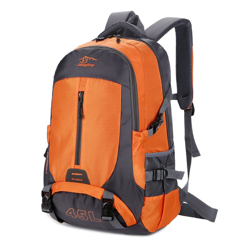Hongjing 45L Outdoor Casual Sporting Randonnée Camping Escalade Sac à dos - Orange
