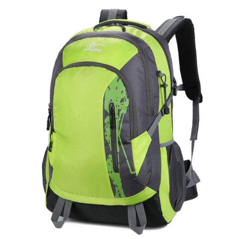 Hongjing Hiking Camping Traveling Large Space Backpack - GREEN