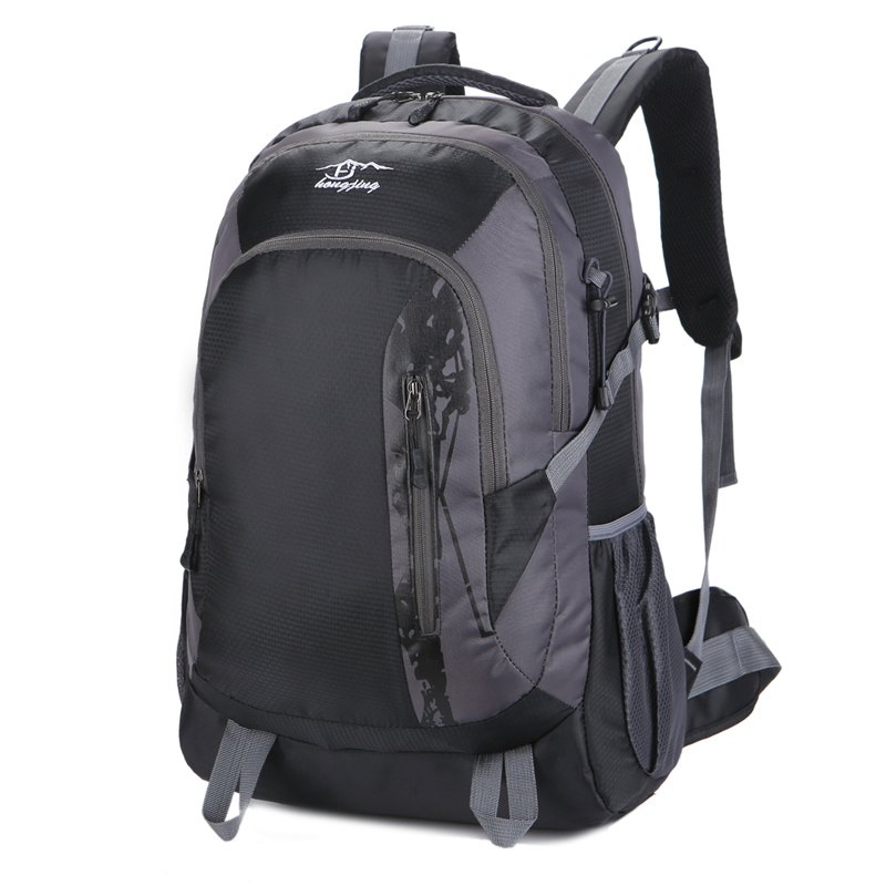 Hongjing Hiking Camping Traveling Large Space Backpack - BLACK