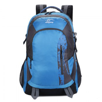 Hongjing Hiking Camping Traveling Large Space Backpack - SKY BLUE