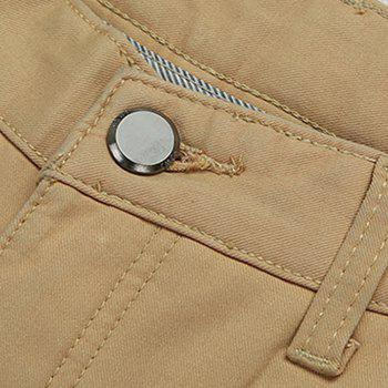 Men's Casual Pants Comfy All Match Solid Color Thickened Pants - KHAKI 34