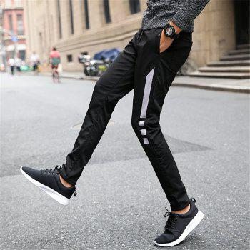 Men's Casual Pants Warm Comfy Fashion Thickened All Match Pants - BLACK L