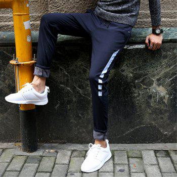 Men's Casual Pants Warm Comfy Fashion Thickened All Match Pants - BLUE BLUE