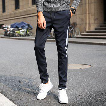 Men's Casual Pants Warm Comfy Fashion Thickened All Match Pants - BLACK 2XL