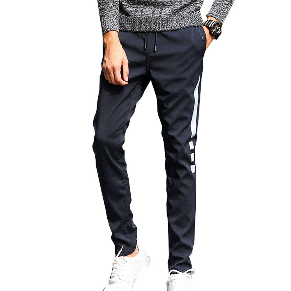 Men's Casual Pants Warm Comfy Fashion Thickened All Match Pants - BLACK XL