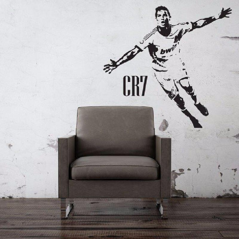 CR7 Football Star Poster Bedroom wall Stickers Dormitory Creative Decorative Wallpaper free shipping european football club football star messi portrait wallpaper mural