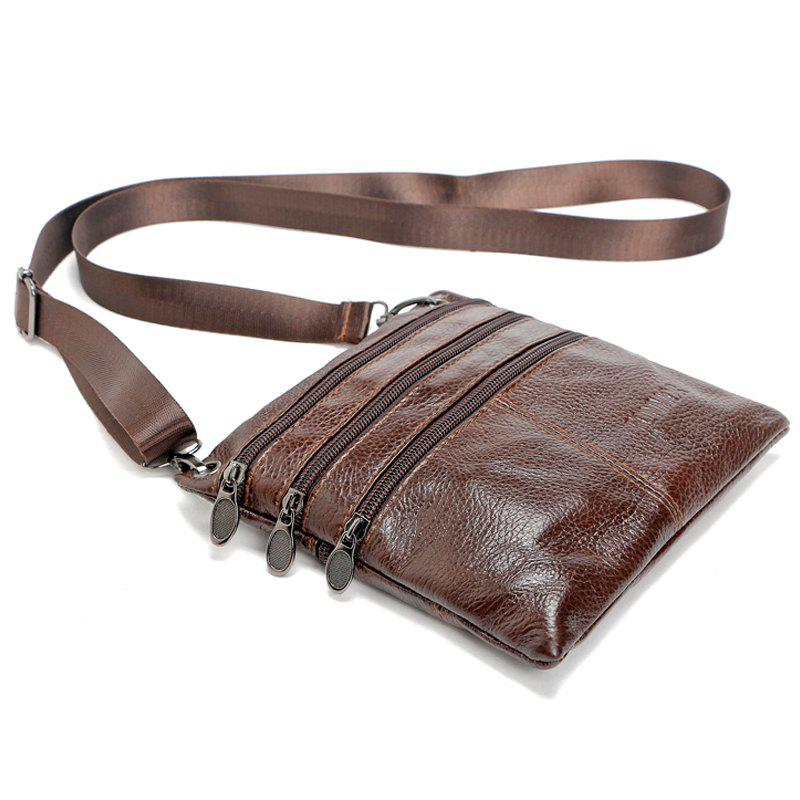 Brand 100% Genuine leather men bag Fashion men small shoulder crossbody bags Thin design Casual messenger bags alta 3001