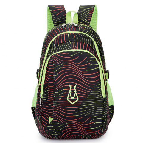 FLAMEHORSE Men women Casual Sports Travel Bag Outdoor Mountaineering Travel Backpack - BLACK
