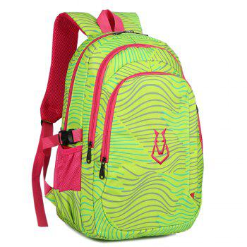 FLAMEHORSE Men women Casual Sports Travel Bag Outdoor Mountaineering Travel Backpack -  GREEN