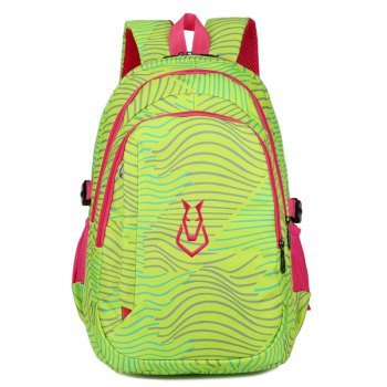 FLAMEHORSE Men women Casual Sports Travel Bag Outdoor Mountaineering Travel Backpack - GREEN GREEN