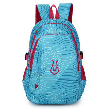 FLAMEHORSE Men women Casual Sports Travel Bag Outdoor Mountaineering Travel Backpack - BLUE BLUE
