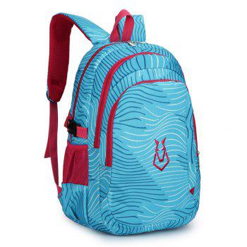 FLAMEHORSE Men women Casual Sports Travel Bag Outdoor Mountaineering Travel Backpack - BLUE