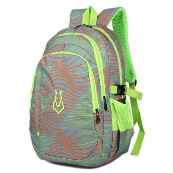 FLAMEHORSE Men women Casual Sports Travel Bag Outdoor Mountaineering Travel Backpack - LIGHT GRAY