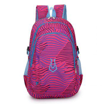 FLAMEHORSE Men women Casual Sports Travel Bag Outdoor Mountaineering Travel Backpack - ROSE RED ROSE RED