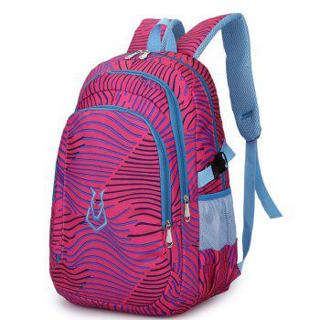 FLAMEHORSE Men women Casual Sports Travel Bag Outdoor Mountaineering Travel Backpack - ROSE RED