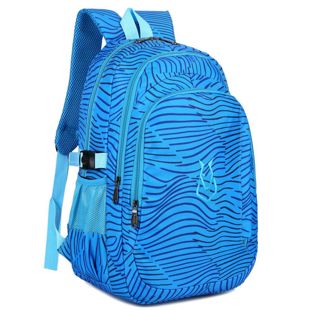 FLAMEHORSE Men women Casual Sports Travel Bag Outdoor Mountaineering Travel Backpack - SAPPHIRE BLUE