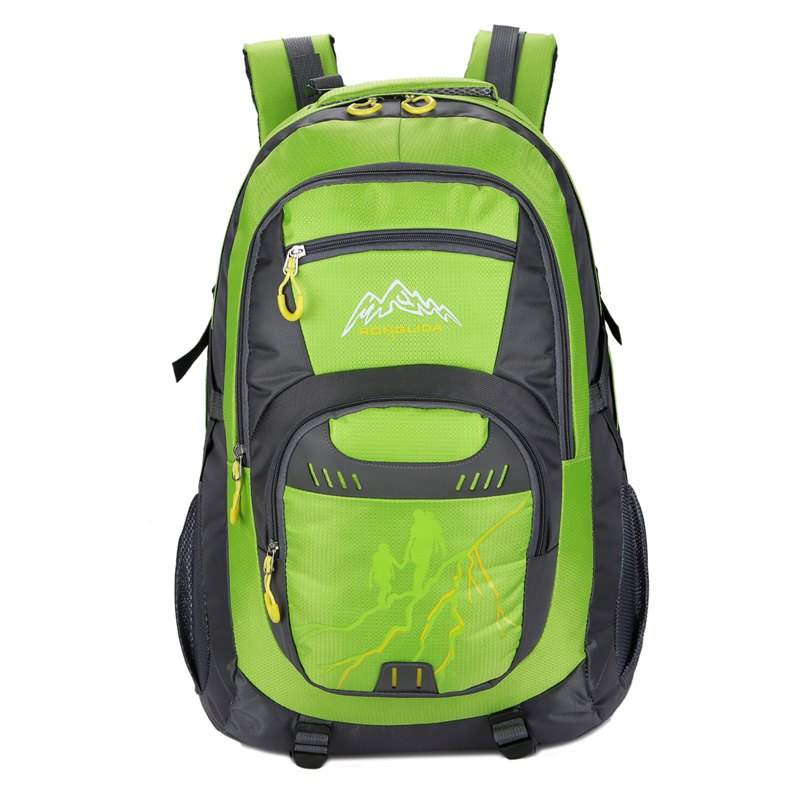50L Nylon Men women Waterproof Travel Bag Couple Sports Largecapacity Travel Backpack - GREEN