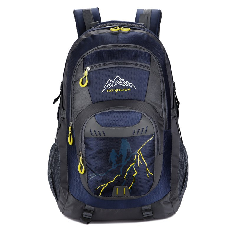 50L Nylon Men women Waterproof Travel Bag Couple Sports Largecapacity Travel Backpack - DEEP BLUE