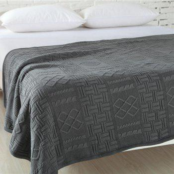 New Products With Thick Warm Cotton Knitted Wool Casual Blankets - GRAY GRAY