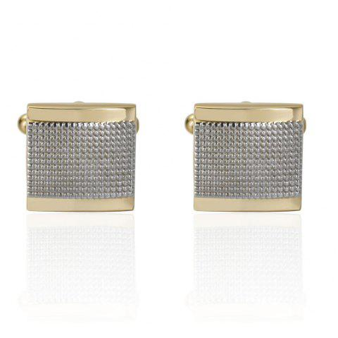 New Noble Gold Color Matte Cufflinks Gold Cuff Button - GOLD