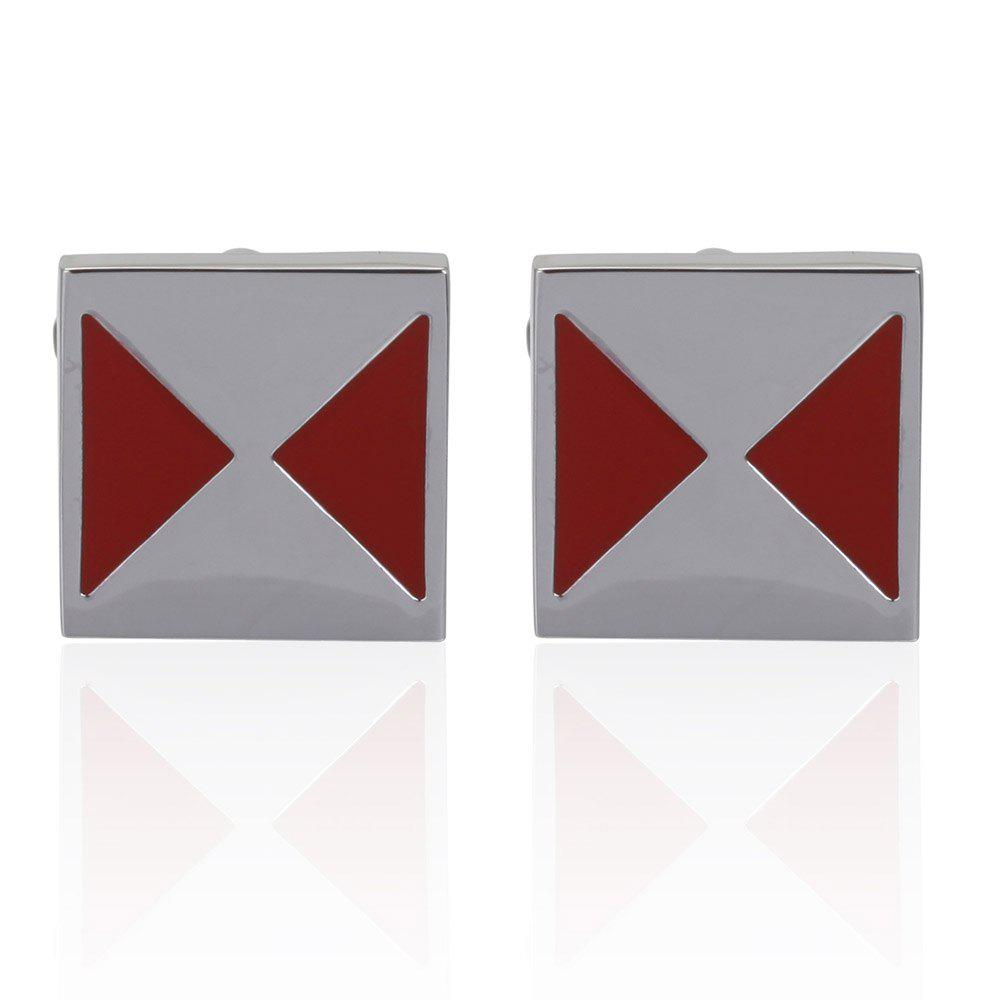 Cufflinks Red Color Fashion Novelty Design Best Cuff Button - RED