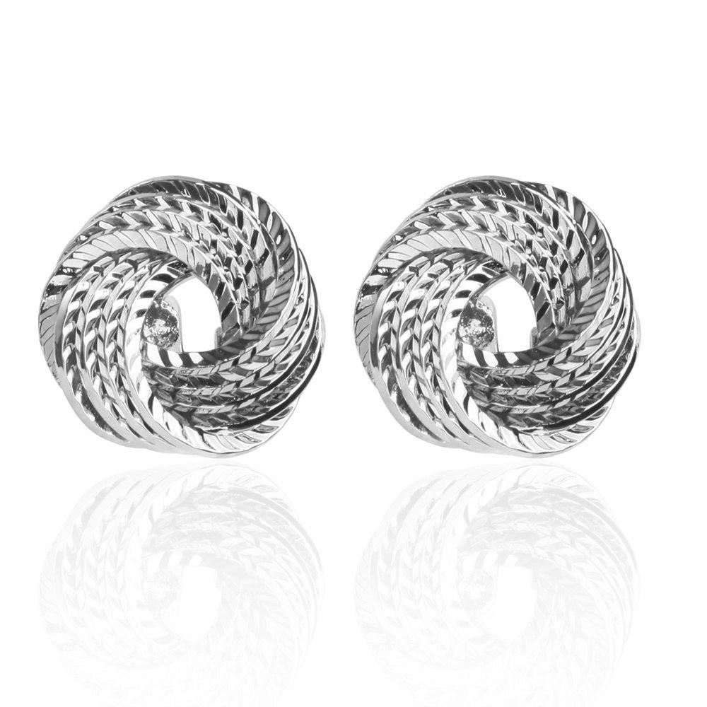 The Classic Multi Personality Twist Cufflinks Cuff Links - SILVER