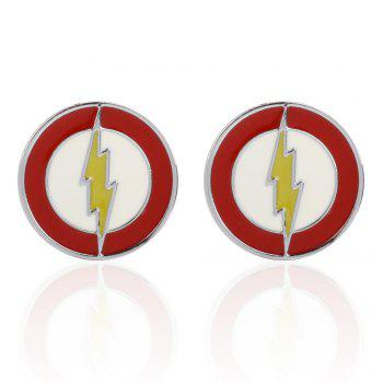 High Quality Oil Logo Totem Cufflinks Cuff Links - RED RED