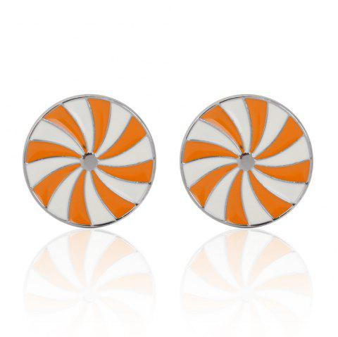 High Quality Oil Sunshine Totem Cufflinks Cuff Links - ORANGE