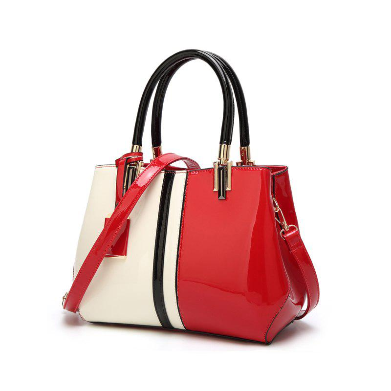 Ladies Fashion Hit Color European and American Handbag - RED