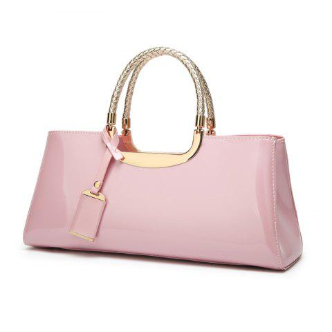 Ladies Fashion Sequined Light Plastic Handbag - PINK