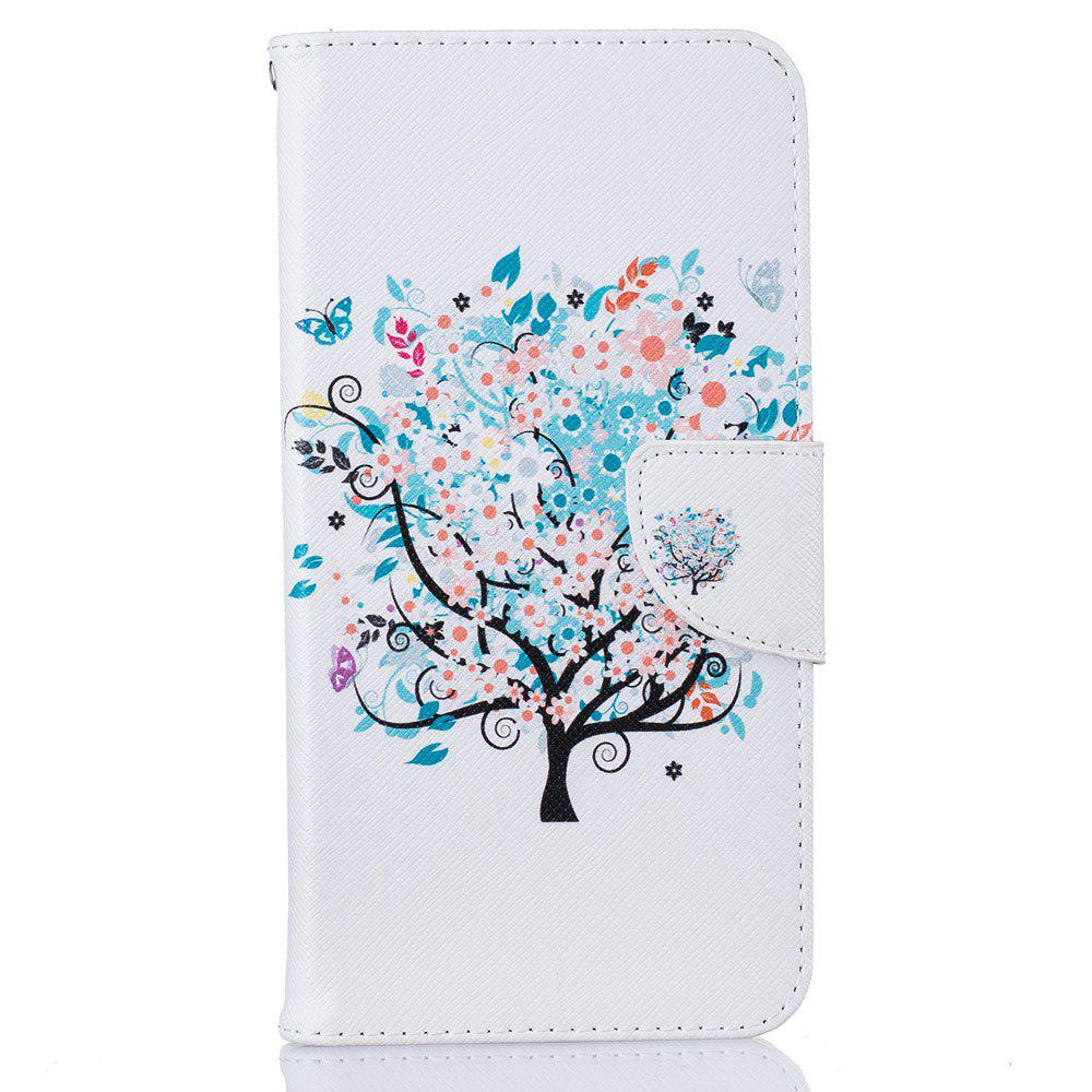 White Tree Pattern Luxury Style PU Leather Mobile Phone Case Flip Cover for iPhone 6 Plus / 6s Plus купить дешево онлайн
