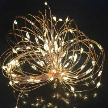 10M 100 Led Copper Wire String Light Solar Power String Fairy Light For Outdoor Living Decoration Garden - GOLD AND BLACK GOLD/BLACK