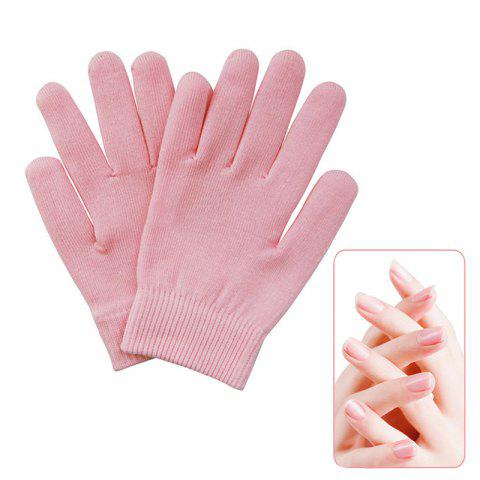 Reusable SPA Gel Gloves Moisturizing Whitening Exfoliating - PINK ONE SIZE