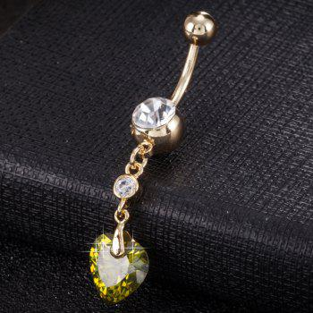 Simple Heart Shaped Zircon Navel Ring P0201