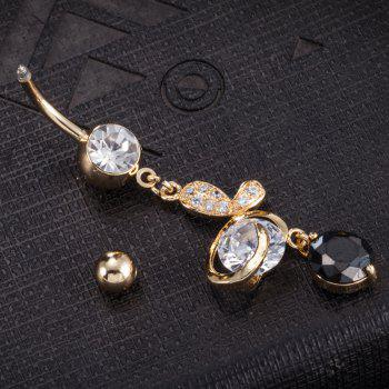 Beautiful Butterfly Zircon Navel Ring P0203