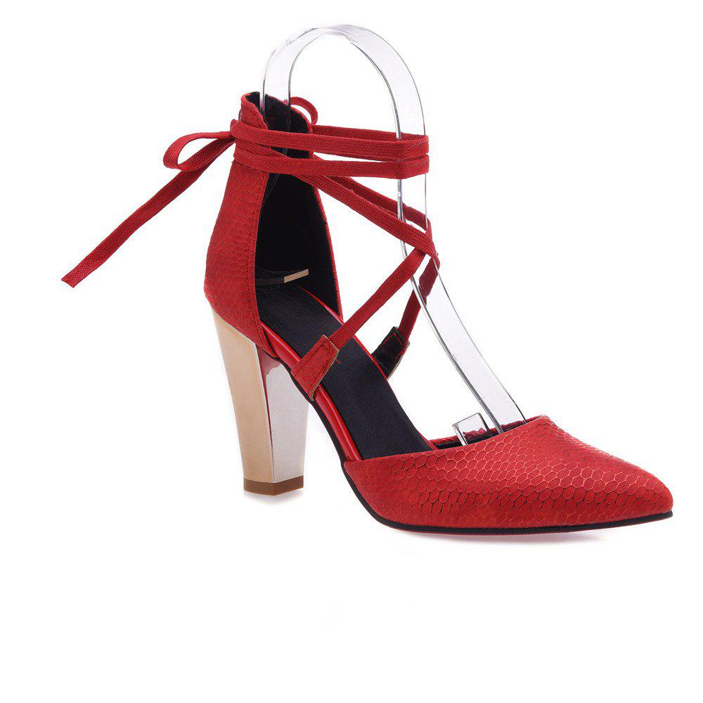 Chaussures Miss Ascpb-5 à talons hauts Fashion Bandage Fashion Bandwagon - Rouge 32