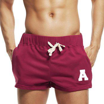 Taddlee Sexy Men's Sports Running Short Shorts Cotton Red Pockets Gym Training Big Soft Low Rise Boxer Trunks Bottom - RED RED