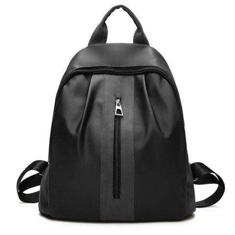 The New Double Shoulder Bag Is The Style of Fashion College Feng Shuang Bag Travel Bag - BLACK