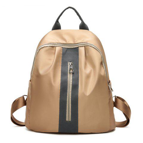 The New Double Shoulder Bag Is The Style of Fashion College Feng Shuang Bag Travel Bag - KHAKI