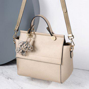 SITIYA Top Handle Tassel Large Style Women Leather Tote Purse Shoulder Bag - GOLD
