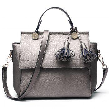 SITIYA Top Handle Tassel Small Style Women Leather Tote Purse Shoulder Bag - BRONZED BRONZED