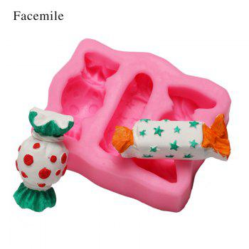 Facemile Christmas 3D Gift Silicone Mold Fondant Cake Decorating Tool Chocolate Candy Jello Biscuit Cookie Baking Bakeware Mold - PINK