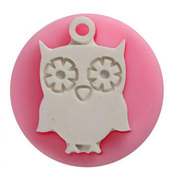 Facemile Owl Shape 3D Silicone Cake Mold Cartoon Chocolate Candy Cake Tools Soap Mold Halloween Fondant Cake Decoration - PINK PINK